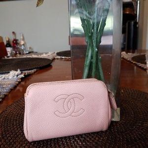 Authentic Chanel Pink Pouchette Purse Small